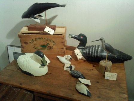 Artful Way Gallery - Richard Jason - carved brids and whale display - resized.jpg