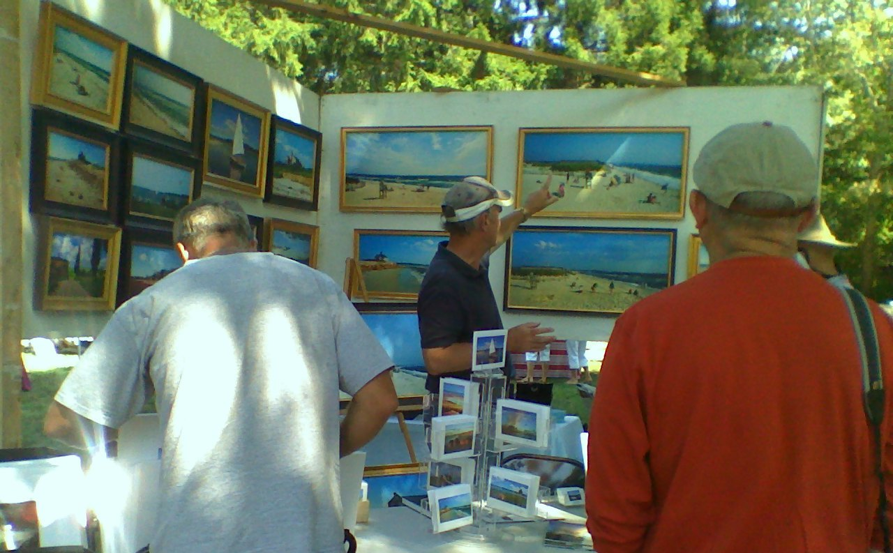 Cataumet Artists Fair -  Bob Manz booth.jpg