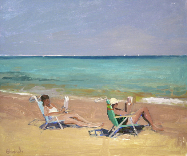 Herb Edwards - Beach Readers Acrylic on Canvas.jpg