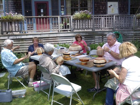 Nantucket Basket Weavers on Cataumet Arts lawn 6-2013 - resized 1.jpg